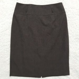 Heathered brown pencil skirt